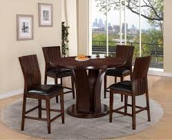Crown Mark D2734ESP Daria Round Pub Height Dining Table And ...