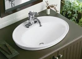 Small Overmount Bathroom Sink kohler serif ceramic oval drop in bathroom sink with overflow