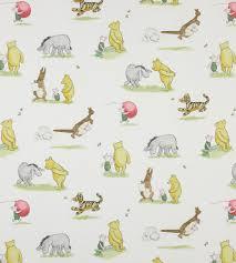 Winnie The Pooh Nursery Decor Uk by Winnie The Pooh And Friends Fabric By Jane Churchill Jane Clayton