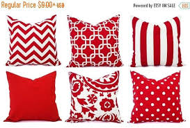 Decorative Couch Pillow Covers by 15 Off Sale Red Pillow Covers Decorative Throw Pillow Cover