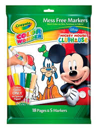 Disney Mickey Mouse Mess Free Coloring Book And Markers