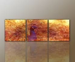 details zu designbilder wandbild modernes abstrakt pfau wohnzimmer 160x50cm