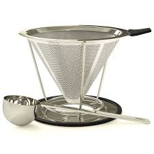 Dolce Mira Clever Coffee Dripper Drip Maker Pour Over Hand Filter With Scoop For Single Cup