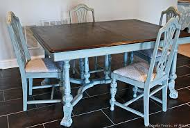 Refinished Dining Table Painted Vintage Gray Room And Chairs Refinishing A