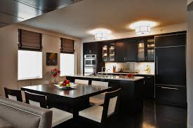 Dining Room Armoire Kitchen Contemporary With Apartment Black Cabinet Front Image By Designs Ken Kelly Inc CKD CBD CR