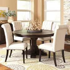 Chair: 49 Round Kitchen Table With 4 Chairs. Cm3556 Round Top Solid Wood With Mirror Ding Table Set Espresso Homy Living Merced Natural Wood Finish 5 Piece East West Fniture Antique Pedestal Plainville Microfiber Seat Chairs Charrell Homey Design Hd8089 5pc Brnan Single Barzini And Black Leatherette Chair Coaster 105061 Circular Room At Hotel Hershey Herbaugesacorg Brera Round Ding Table Nottingham Rustic Solid Paula Deen Home W 4 Splat Back Modern And Cozy Elegant Sets