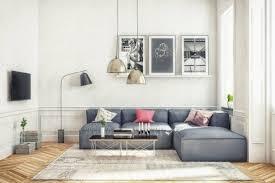 deco canapé gris déco salon salon scandinave couleur peinture salon blanche canapé