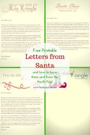 Free Printable Letters from Santa & His Elves Learn how to have