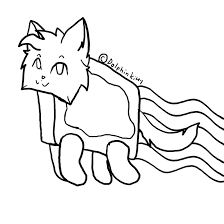 Free Nyan Cat Lineart By Dolphinkitty