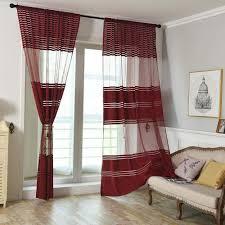 tonsee transparent voile gardinen patchwork streifen