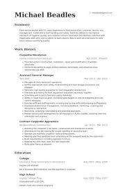 Handyman Resume Examples Example Present Though Carpenter