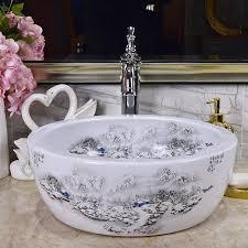 chinesische antike keramik waschbecken china waschbecken keramik zähler top runde schnee keramik waschbecken badezimmer waschbecken