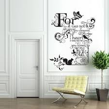 Beautiful Quotes Wall Stickers In White Living Room Design Ideas