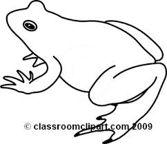 Cute Frog Clip Art Black And White