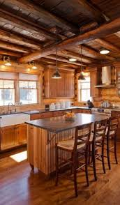 Log Cabin Kitchen Cabinet Ideas by Traditional Kitchen Log Cabin Design Ideas Pictures Remodel And