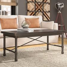 Industrial Coffee Table Made Of Wood And Metal Saya Loft