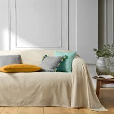 jeté de canapé en jetés de canapé et plaids blancheporte