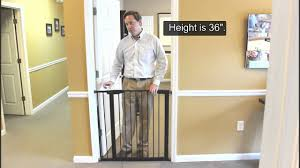 Summer Infant Decor Extra Tall Gate Instructions by All About The Extra Tall Premium Pressure Gate Youtube