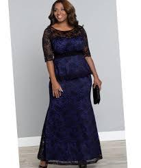 plus size blue lace dress pluslook eu collection