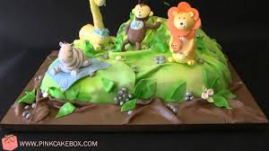 Baby Shower Jungle Cake YouTube