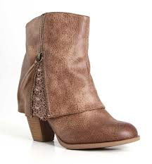 not rated summer lace heeled booties for women in taupe nrlb0337 277