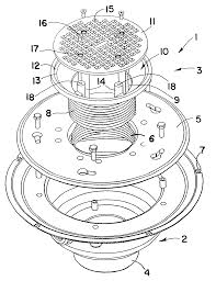 Sioux Chief Adjustable Floor Drain by Patent Us6687925 Load Resistant Floor Drain Assembly Google