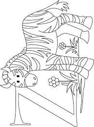Z For Zebra Coloring Page Kids