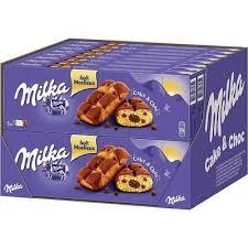 milka cake choc 5 mini kuchen mit flüssigem schokolade
