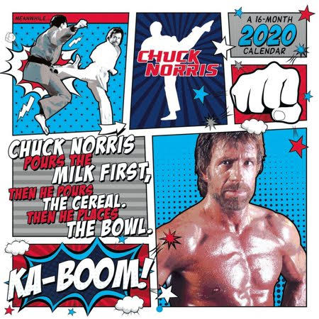 Trends International Calendars Chuck Norris Wall Calendar FSC Certified Paper with Full Color Pages - All Major Holidays
