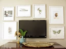 Decorating Around A TV 1 Integrate Your Within Wall Of Picture Frames