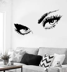100 Sexy Living Rooms Hot Eyes Girl Wall Stickers Teen Woman Decal For Room Decor Removable Self Adhesive Wall Decal Hot Mural Cheap Wall Clings Cheap Wall