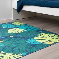urskog teppich flach gewebt blätter grün 133x160 cm