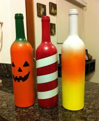 Decorative Wine Bottles Diy by Wine Bottle Jack O Lanterns 8 Steps With Pictures