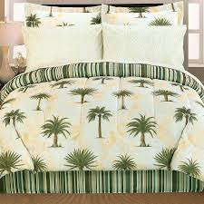 Modern Bedroom With Palm Tree Bedding Tropical Palm Tree Bedroom