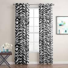 Zebra Print Curtains Curtain Ideas