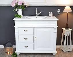 waschbecken mit unterschrank landhaus waschtisch weiß