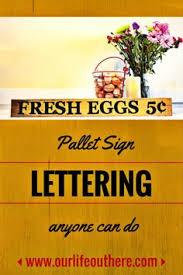 Pallet Sign Lettering