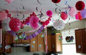 Table Decorating Ideas Home Elements And Style Medium Size Bday Decoration At Simple Of Party Living