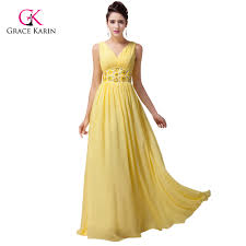 online get cheap yellow long prom plus size dresses aliexpress