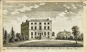 100 Prospect House Antique Engraving Print Woodford Row Essex 1790