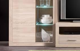 wohnwand anbauwand wohnzimmerset can can inkl beleuchtung eiche sonoma
