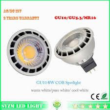12volt led light bulb mr16 6watts led spotlight cob warm white