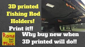 3D Printed Fishing Rod Holders For My Truck Topper - YouTube Truck Tool Box Bolt On Rod Holder 9 Plattinum Products Fishing Rod Holder Holders Fish Vintage Cars Car Show Truck Holders The Hull Truth Boating And Forum Rack For Pickup Gone Fishing Pinterest For Beds Patriotsrunus Bench Seat Mounting Dual Nylon With 12 New My Bed Tv Diy Storage Diy Rackholder Box Pole Golf Cart Nevgear