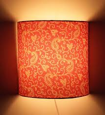 yellow color fabric half shade wall l fixture oregonuforeview