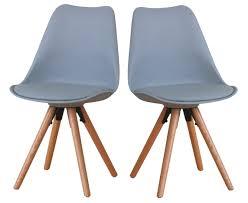 paket 2er set esszimmerstuhl nelle küchenstuhl esszimmer küche stuhl stühle eiche grau dynamic 24 de