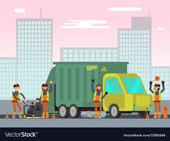 100 Waste Management Garbage Truck Management And City Garbage Collection For Vector Image