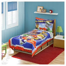 Paw Patrol All Paws on Deck 4 Piece Toddler Bed Set Multicolor