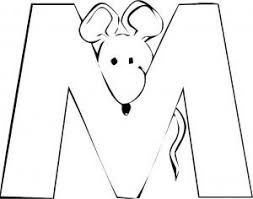 Letter M Mouse Coloring Pages PagesFull Size Image