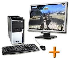 pc bureau reconditionné acer aspire m3100 ecran acer al2216w ordinateur bureau