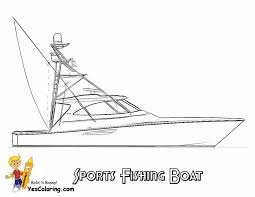 Sportfishing Boat Coloring Picture To Print At YesColoring